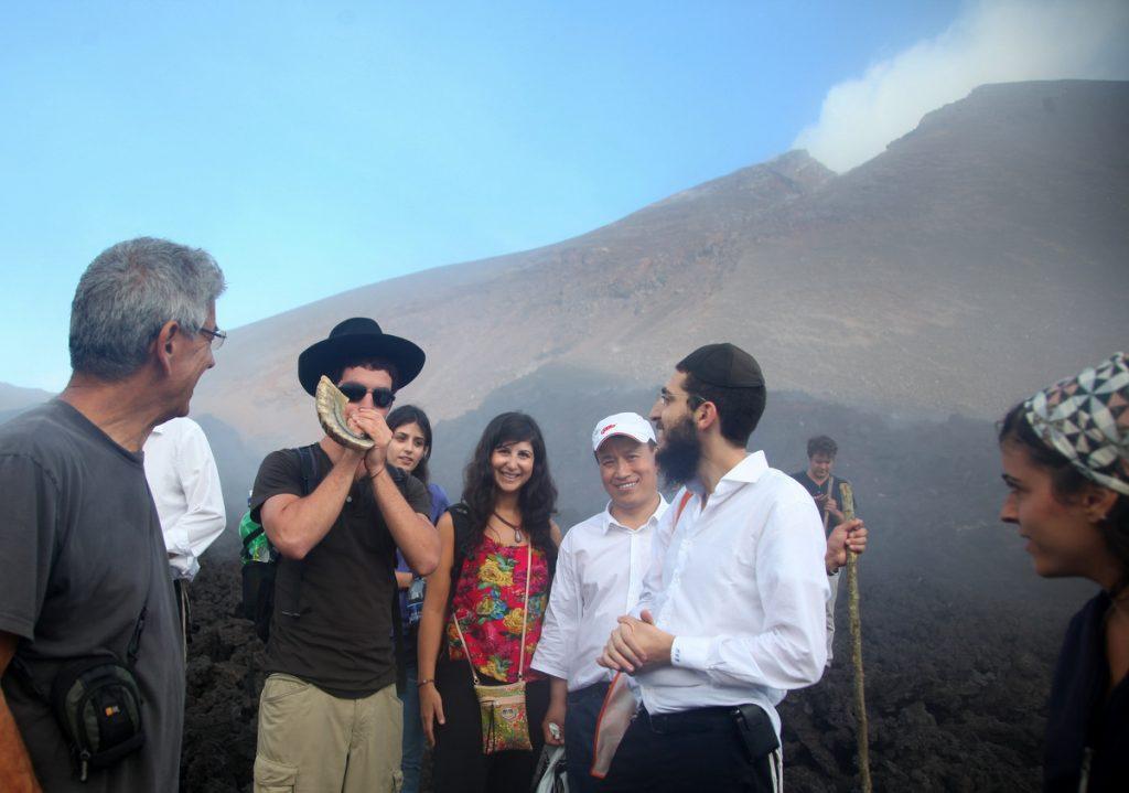 1 Shofar at Pacaya Volcano in Guatemala